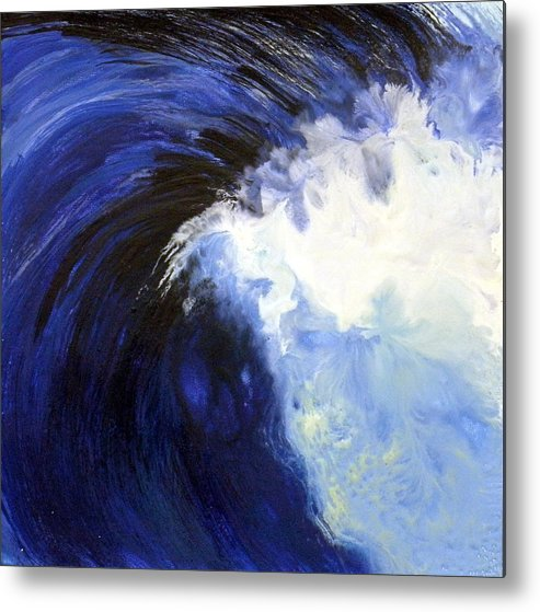 Landscape Metal Print featuring the painting Great Wave by Sally Backey-Avant