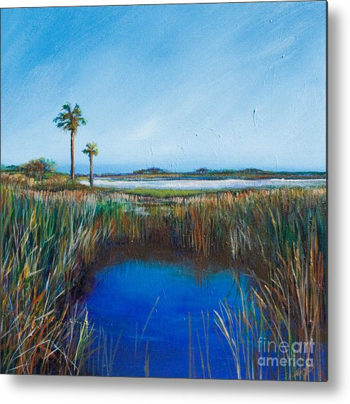 Florida Landscape Painting Print Poster Art Metal Print featuring the painting Guana River Lll by Michele Hollister - for Nancy Asbell
