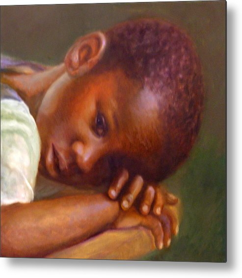 Child Metal Print featuring the painting Haiti's Hope by Dorothy Nalls