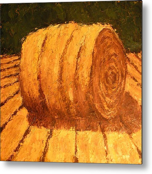 Art Sale Metal Print featuring the painting Haybale by Jaylynn Johnson