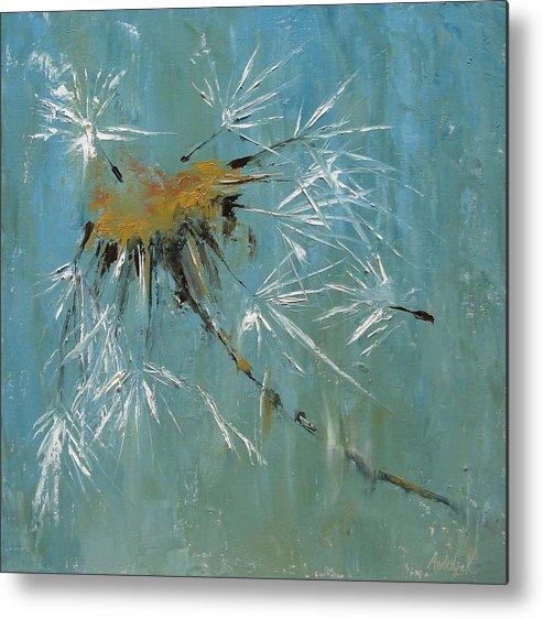 Plants Metal Print featuring the painting Hopes by Barbara Andolsek