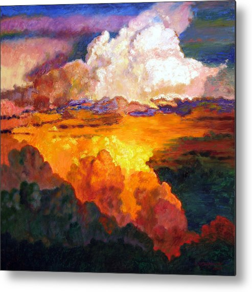 Clouds Metal Print featuring the painting Ill Fly Away O Glory by John Lautermilch