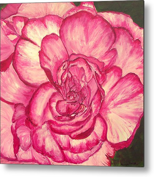 Flower Metal Print featuring the painting In The Pink by Marcia Paige