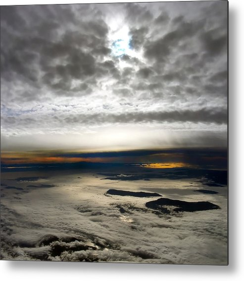 Landscape Metal Print featuring the photograph Islands In The Clouds by Mary Lane