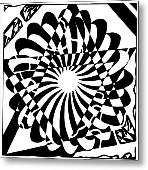 Jewish Metal Print featuring the drawing Jewish Pride Maze by Yonatan Frimer Maze Artist