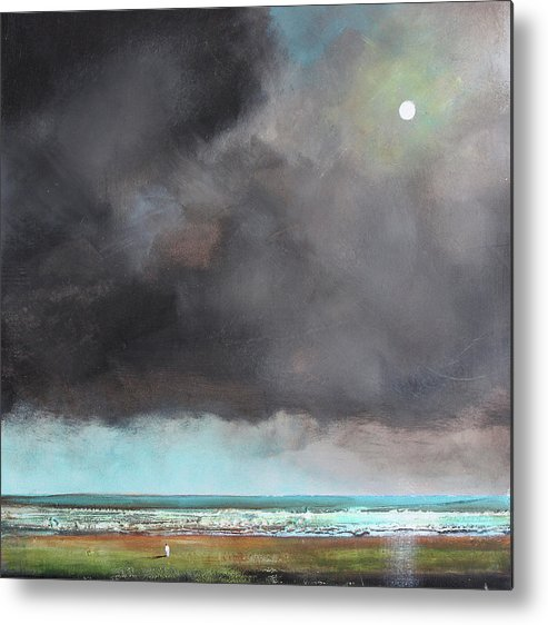 Storm Metal Print featuring the painting Light Of Hope by Toni Grote