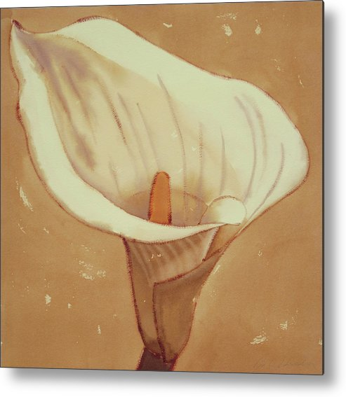 Flowers Metal Print featuring the painting Lily by Joe Schneider