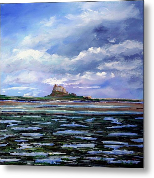 Lindisfarne. Holy Island. Northumberland. Seascape. England. Uk. Metal Print featuring the painting Lindisfarne. by John Cox