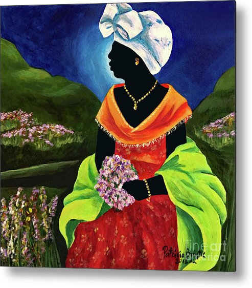 Haiti Metal Print featuring the painting Lisabelle by Patricia Brintle