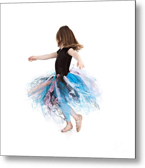 Little Girl Metal Print featuring the photograph Little Ballerina by Cindy Singleton