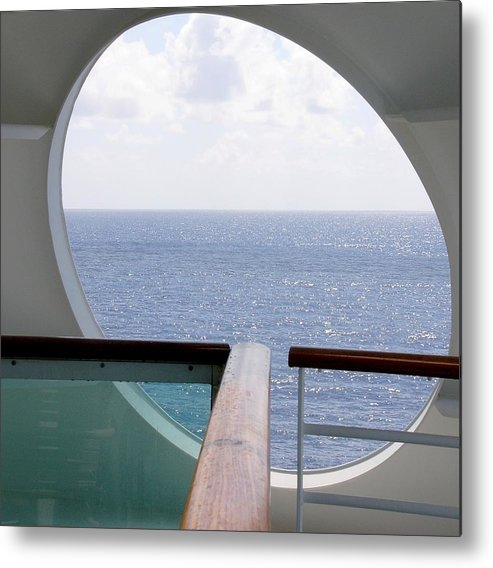 Ocean Metal Print featuring the photograph Looking Out by Kenna Westerman