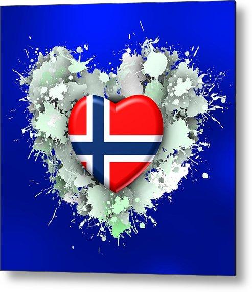 Love Metal Print featuring the digital art Love Norway 2 by Alberto RuiZ
