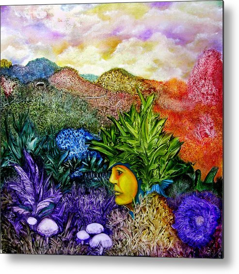 Montain Metal Print featuring the painting Magic Mushrooms by Fernando Armel