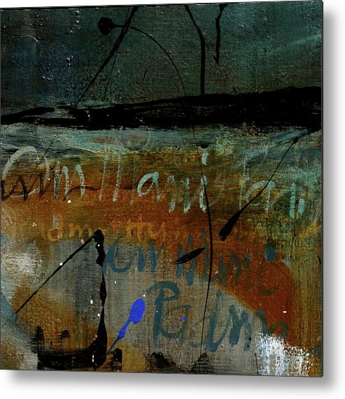 Metal Print featuring the painting Mantra 5 by Betty OHare