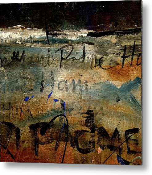 Metal Print featuring the painting Mantra 6 by Betty OHare