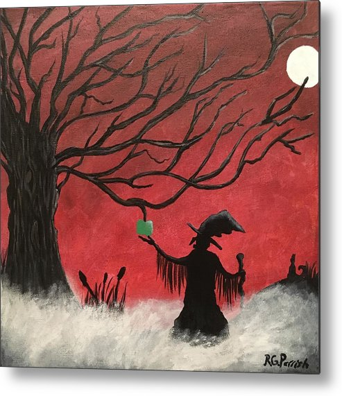 Tree Metal Print featuring the painting Midnight by Rita Parrish