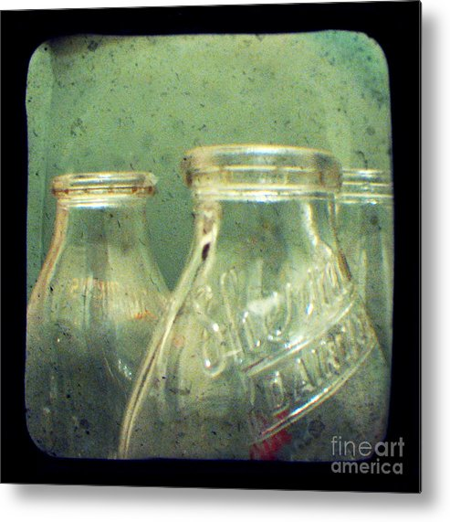 Ttv Metal Print featuring the photograph Milk Bottles by Dana DiPasquale
