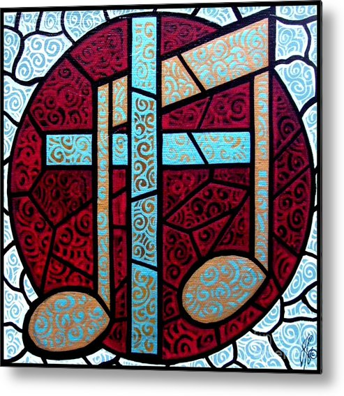 Cross Metal Print featuring the painting Music Of The Cross by Jim Harris
