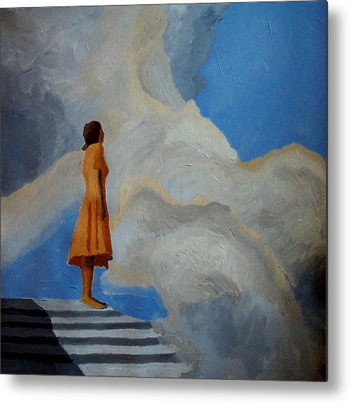 Air Metal Print featuring the painting On The Highest Step by Mats Eriksson