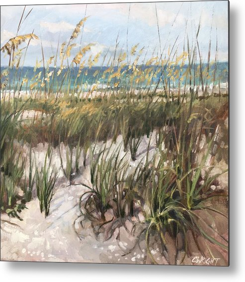 Anna Maria Island Metal Print featuring the painting Waiting On The Sun by Cory Wright