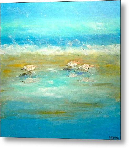 Pipers Metal Print featuring the painting Pipers by Paul Emig