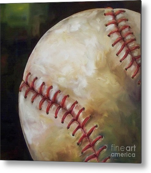 Baseball Metal Print featuring the painting Play Ball by Kristine Kainer
