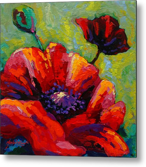 Poppies Metal Print featuring the painting Poppy I by Marion Rose