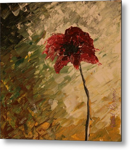 Impressionism Metal Print featuring the painting Poppy In The Dawn by V R