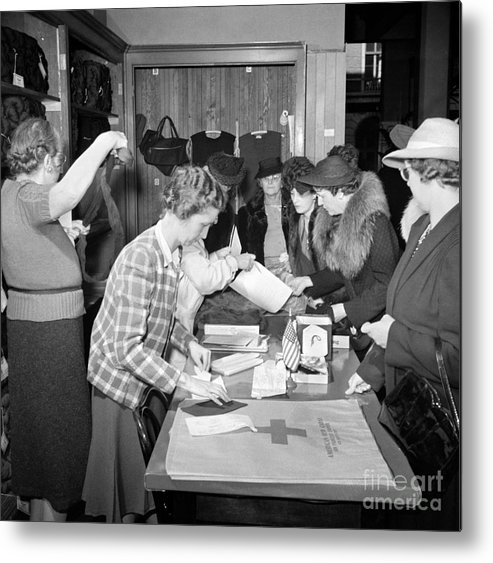1941 Metal Print featuring the photograph Red Cross, 1941 by Granger