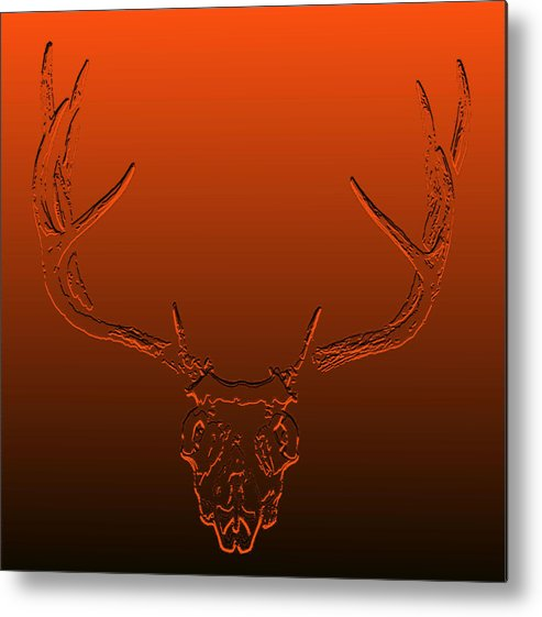 Deer Photo's Metal Print featuring the photograph Red Rack by Brent Easley