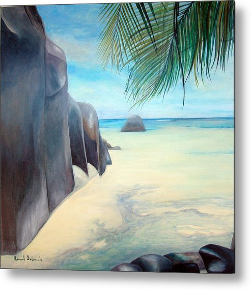 Paysage Metal Print featuring the painting Reve by Muriel Dolemieux