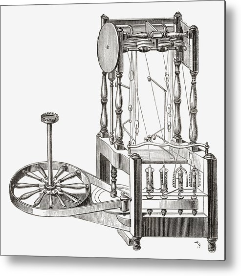 Richard Arkwright S Water Frame. From Metal Print by Vintage Design Pics