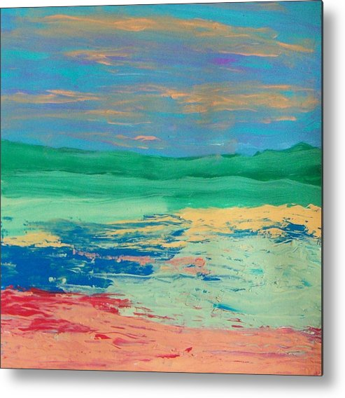 Landscape Metal Print featuring the painting Scape by Helene Henderson