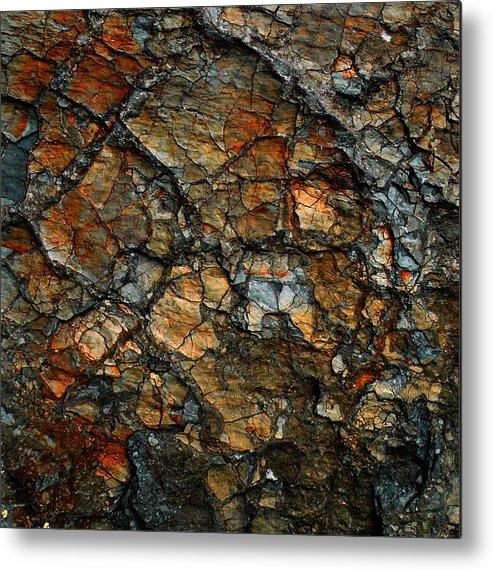 Abstract Metal Print featuring the digital art Sedimentary Abstract by Dave Martsolf