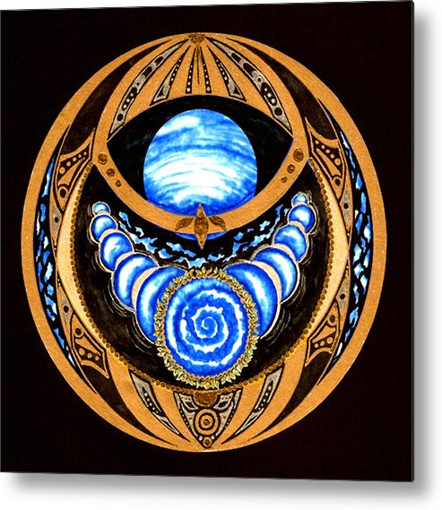 Meditation Metal Print featuring the painting Seed Of Imagination by Pam Ellis