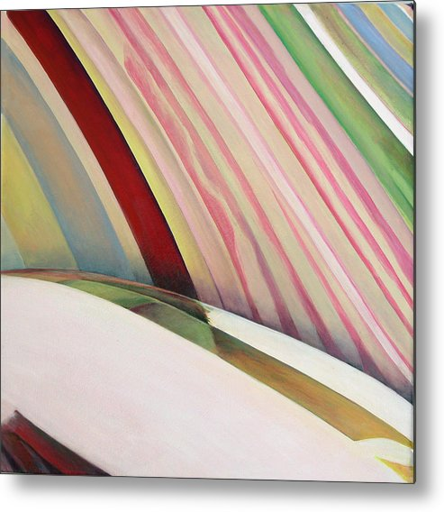 Abstract Metal Print featuring the painting Sens 1 by Muriel Dolemieux