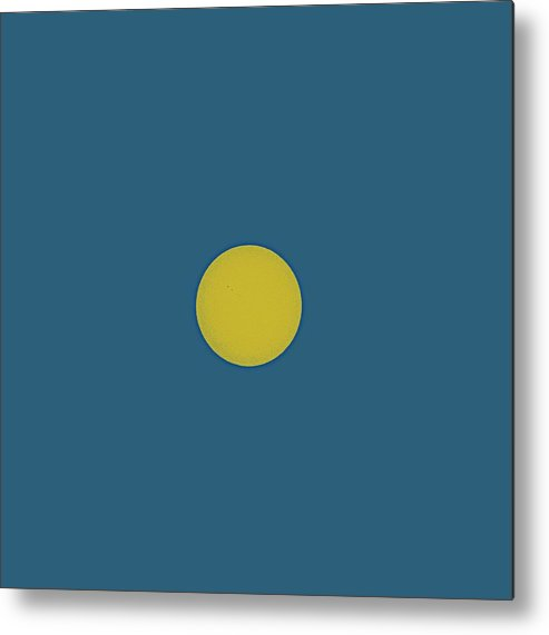 Sun Metal Print featuring the painting Solar Eclipse In Totality 2 by Celestial Images
