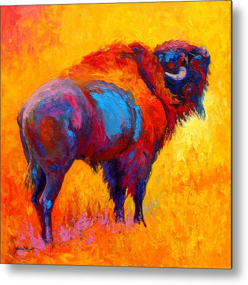 Wildlife Metal Print featuring the painting Something In The Air by Marion Rose