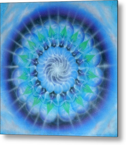 Mandala Metal Print featuring the painting Spiral Gallaxies by Elizabeth Zaikowski