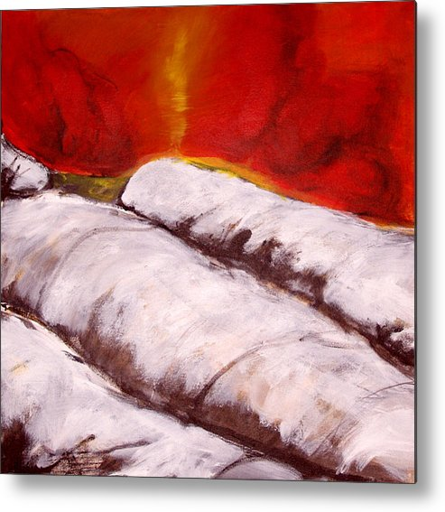 Expressionism Metal Print featuring the painting Spirit Over Frost by Cecilia August Sand
