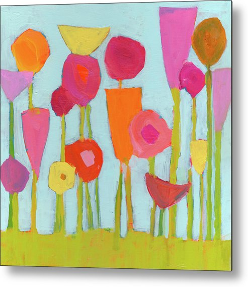 Flowers Painting Metal Print featuring the painting Spring Blooms by Laurie Breen
