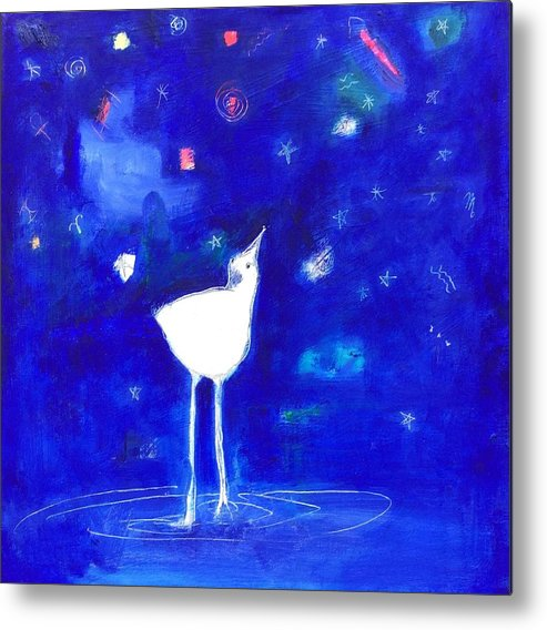 Birds Metal Print featuring the painting Star Gazer by Cindy Moore Caird