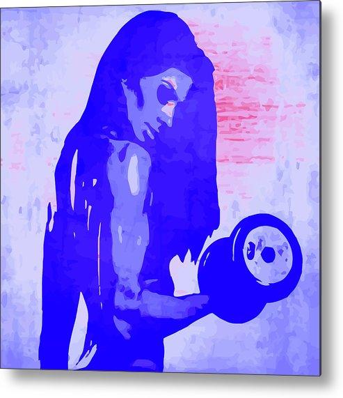Woman Metal Print featuring the digital art Strong Women 5 by John Novis