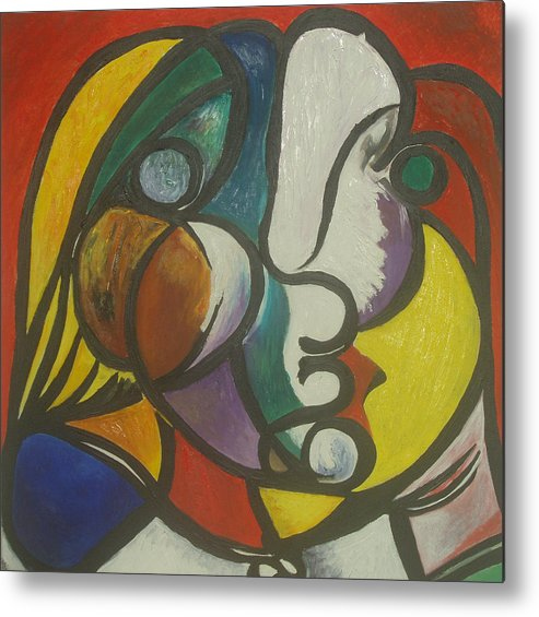 Picasso Metal Print featuring the painting Study After Picasso by Ibrahim Rahma