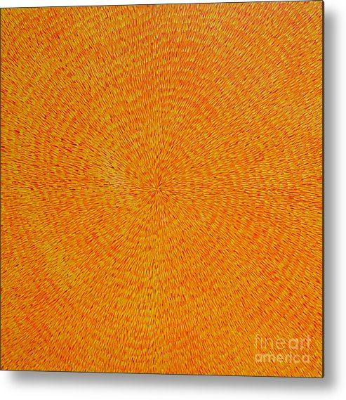 Abstract Metal Print featuring the painting Su Gaia by Dean Triolo