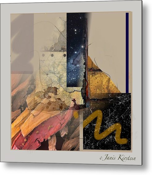 Mixed Media Metal Print featuring the mixed media Summer Night 1 by Janis Kirstein