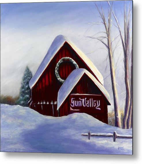 Landscape Metal Print featuring the painting Sun Valley 3 by Shannon Grissom