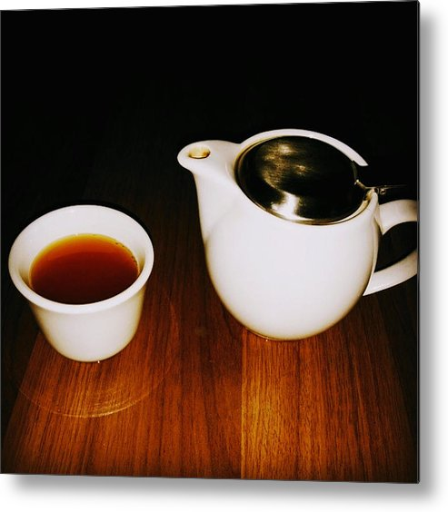 Tea Lovers Metal Print featuring the pyrography Tea-juana by Albab Ahmed