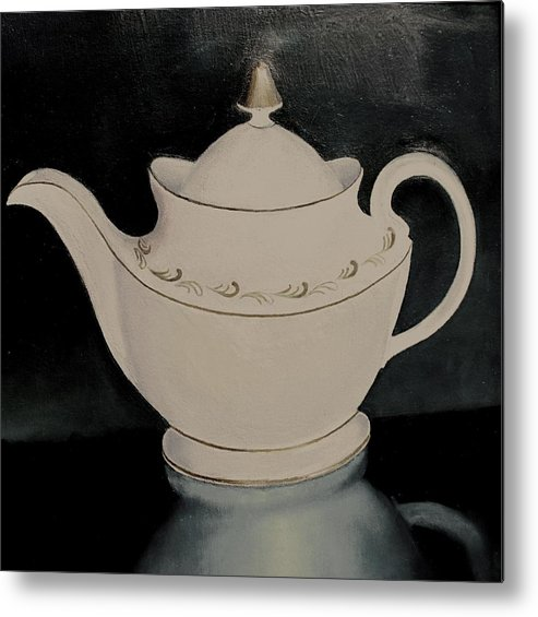 Still Life Metal Print featuring the painting Tea Pot by Keith Bagg