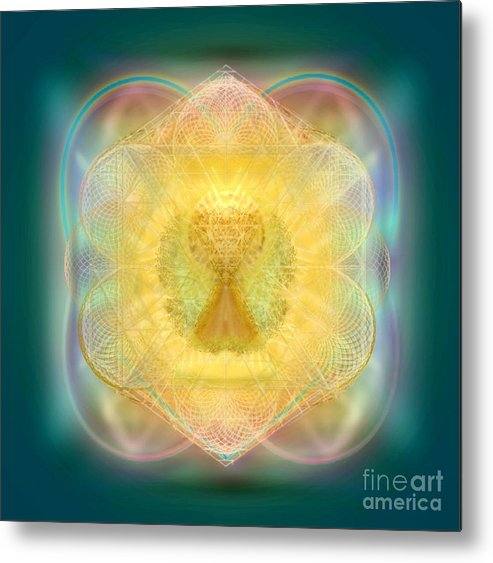 Fire Chalice Metal Print featuring the digital art Temple Fire Chalice by Christopher Pringer